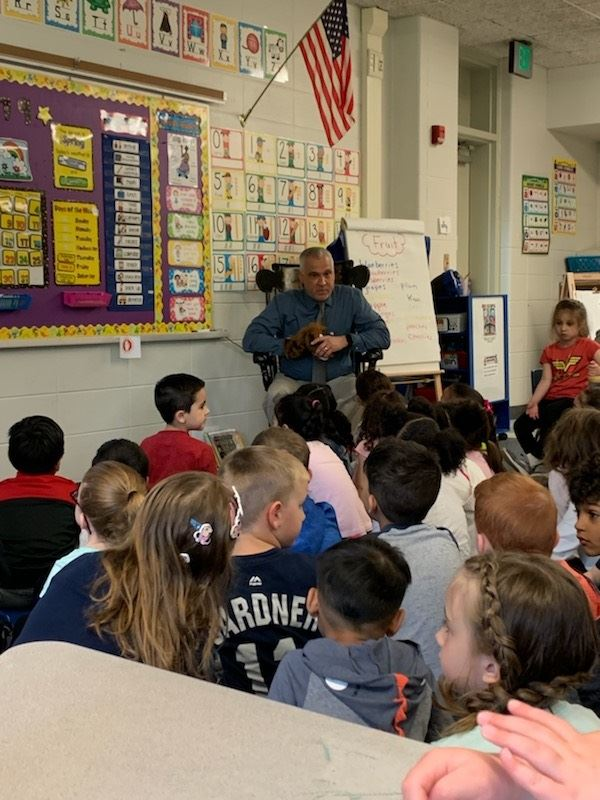 Kindergarten Students Treated to a Special History Lesson
