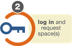 Log in a request space