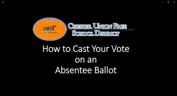 How to Cast Your Vote on an Absentee Ballot