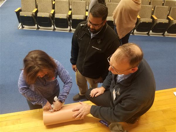 "Chester Schools Staff Receive ""Stop the Bleed"" training"
